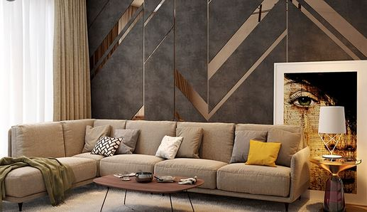 living space with scintillating wall decor ideas